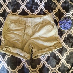 J. Crew City Fit khaki shorts